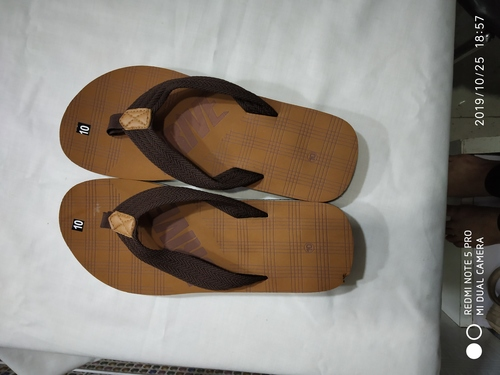 Drive slipper on brown color