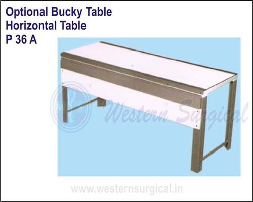 Optional Bucky Table - Horizontal Table