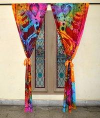 Indian Mandala Multi Lotus Buddha Ombre Hippie Bohemian Curtain