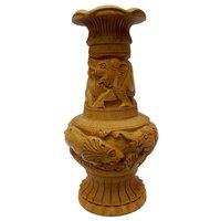 Wooden Fllower pot Carving 20 cm