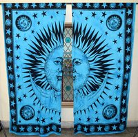 Indian Mandala Sun n Moon Ombre Hippie Bohemian Curtain