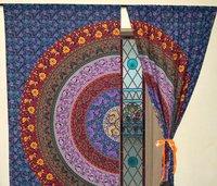 Indian Mandala six Works Ombre Hippie Bohemian Curtain