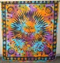 Indian Mandala Multi Sun n Moon Ombre Hippie Bohemian Curtain