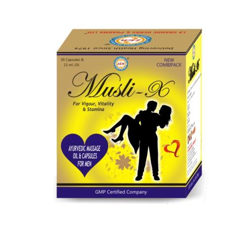 Musli X Oil and Capsules for Men