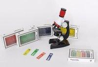 12pcs Kids Plastic Microscope Slides Toy (red Set ) On Botany