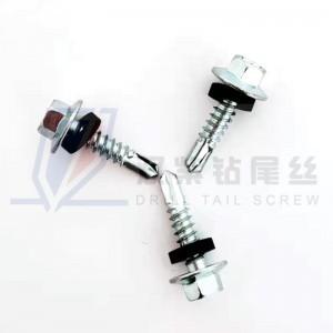 Hex flange head self drilling screws