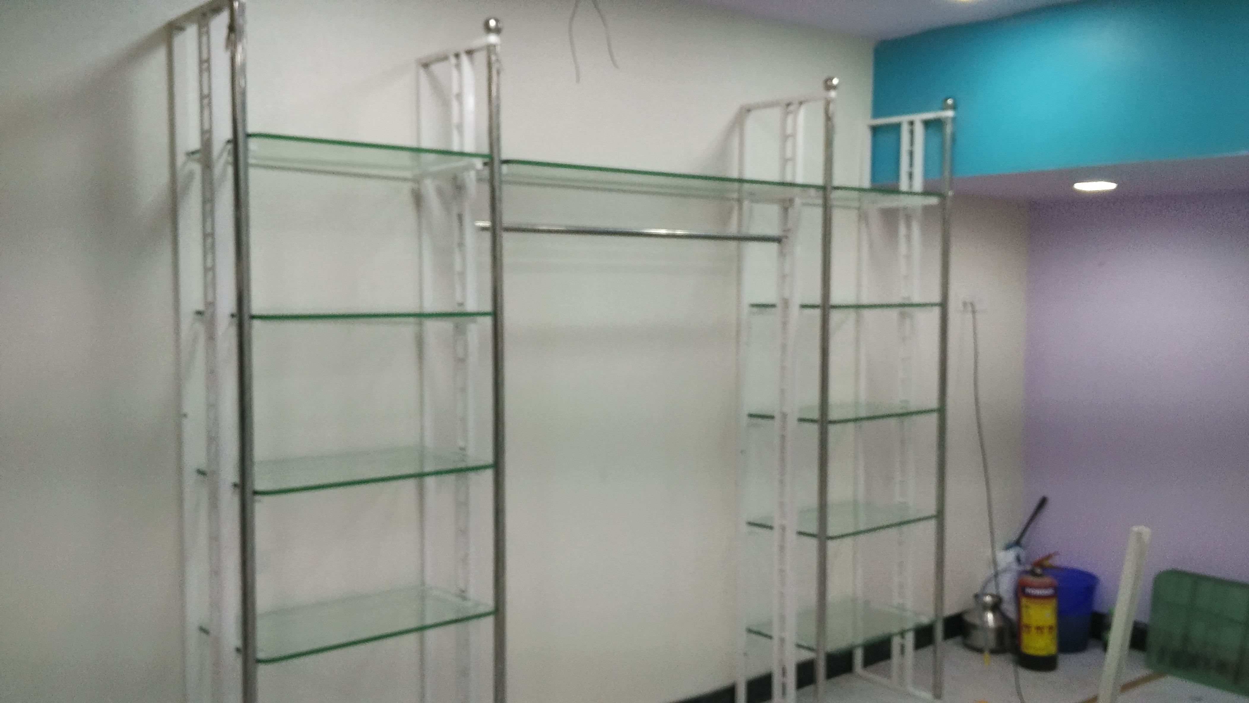 Pillar Racks Glass Shelving Rack