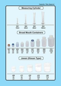 Measuring Cylinders, Chemical Containers, plastic  containers