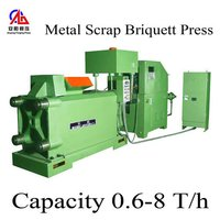 Copper metal scrap bailing press