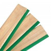 Wooden handle squeegee blade