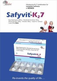 Cissus quadrangularis + Boswellia serrafa extract + Withania Somnifera + Bromelain  + Vitamin K2-7 (Menaquinones)+ L-Lysin
