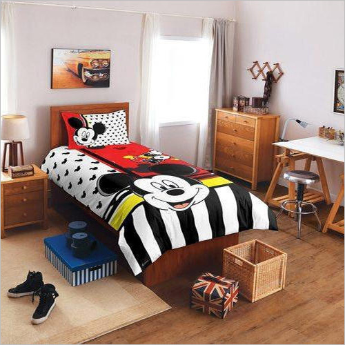 Cartoon Printed Single Bed Sheet