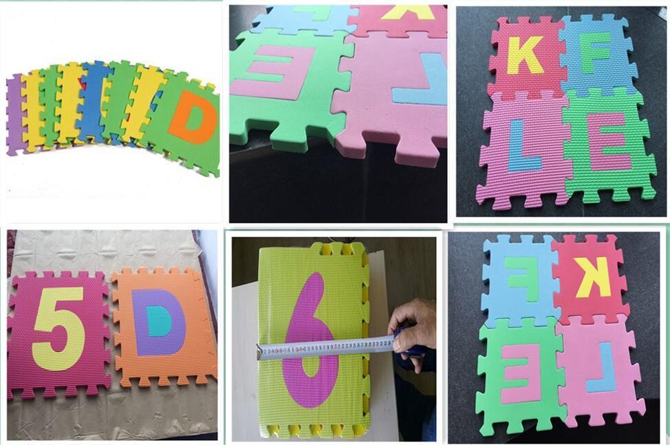 36-SQFT Giant Play Mat 9-tile Excise Mat Easy Setup Solid EVA Foam Mat Multi-color Interlocking Floor with 18-border