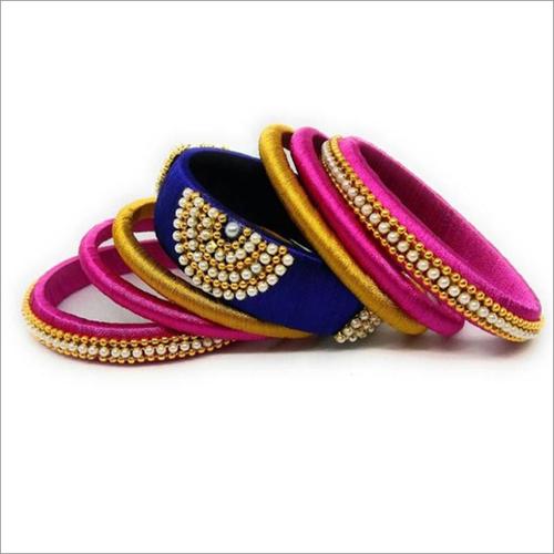 Multicolored Silk Thread Bangles