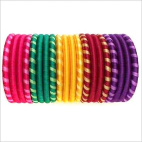 Multicoloured Silk Thread Bangles