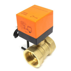 3 Way Brass Valve & Accuator Electric 220 AC