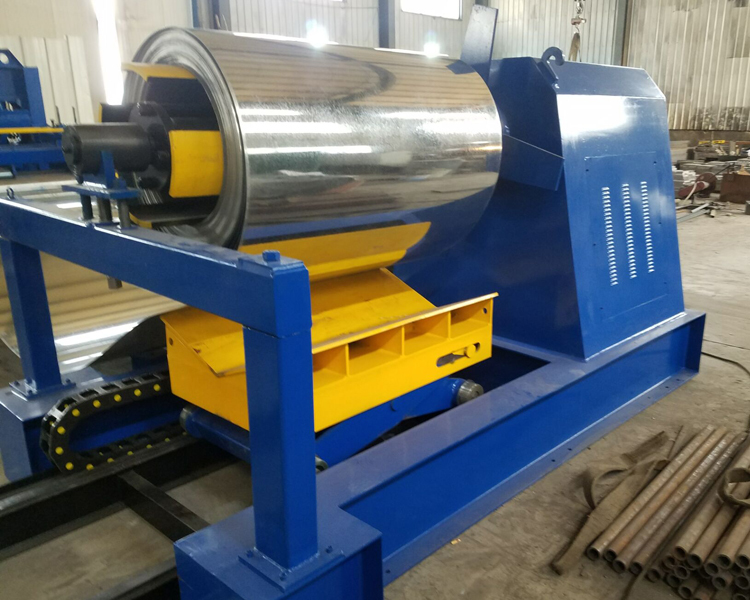 Hydraulic Decoiler With Coil Car