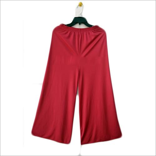 Plain Red Palazzo Pants