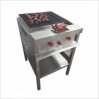 2 Burner Gas Barbeque Machine