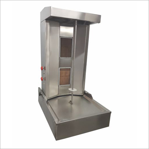 2 Burner Motorized Chicken Shawarma Machine