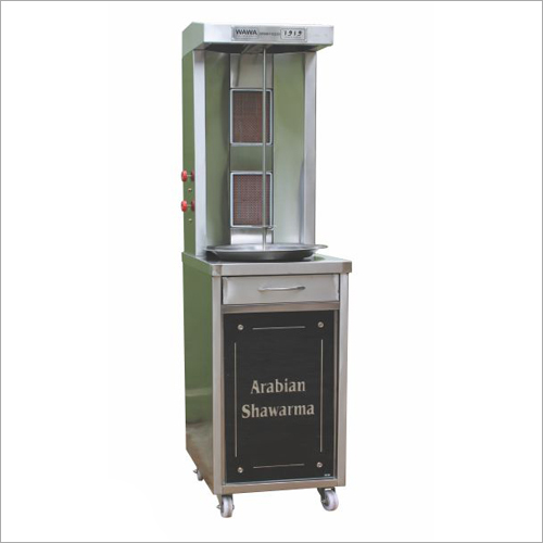 SS 2 Burner Chicken Shawarma Machine