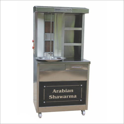 2 Burner Chicken SS Shawarma Machine With Drawer