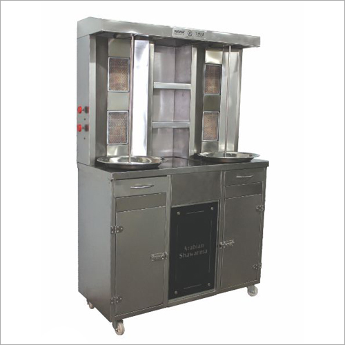4 Burner Double Chicken Shawarma Machine
