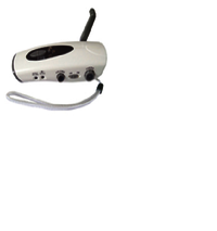 Crank Dynamo Flashlight With AM&FM Radio