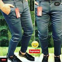 Mens Striped Formal Trouser