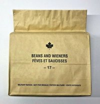 Canada Army Ration. MRE Meals ready to eat
