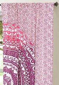 Indian Mandala Pink Cotton Ombre Hippie Bohemian Curtain