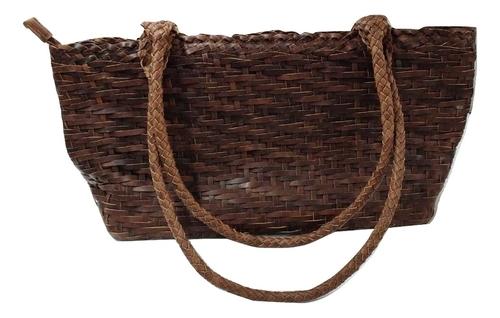 Genuine Leather Weaved Hand Bag
