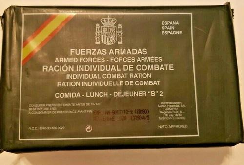 Spanish (MRE) lunch ration menu