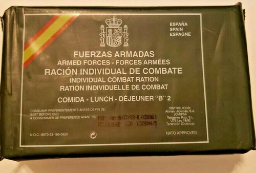 Spanish  Lunch Ration Menu
