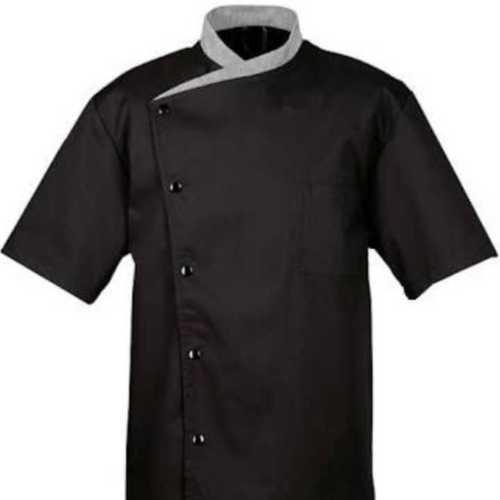 Black Cotton Chef Coat