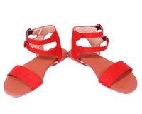 Ladies Braided Ankle Tie Flat Sandal