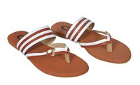 Ladies Synthetic Leather Flat Sandal