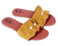 Gibelle Casual Flat Yellow Slipper Sandal For Girls