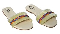 Ladies Casual White Flat Sandal