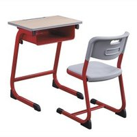 School classroom student table and chair