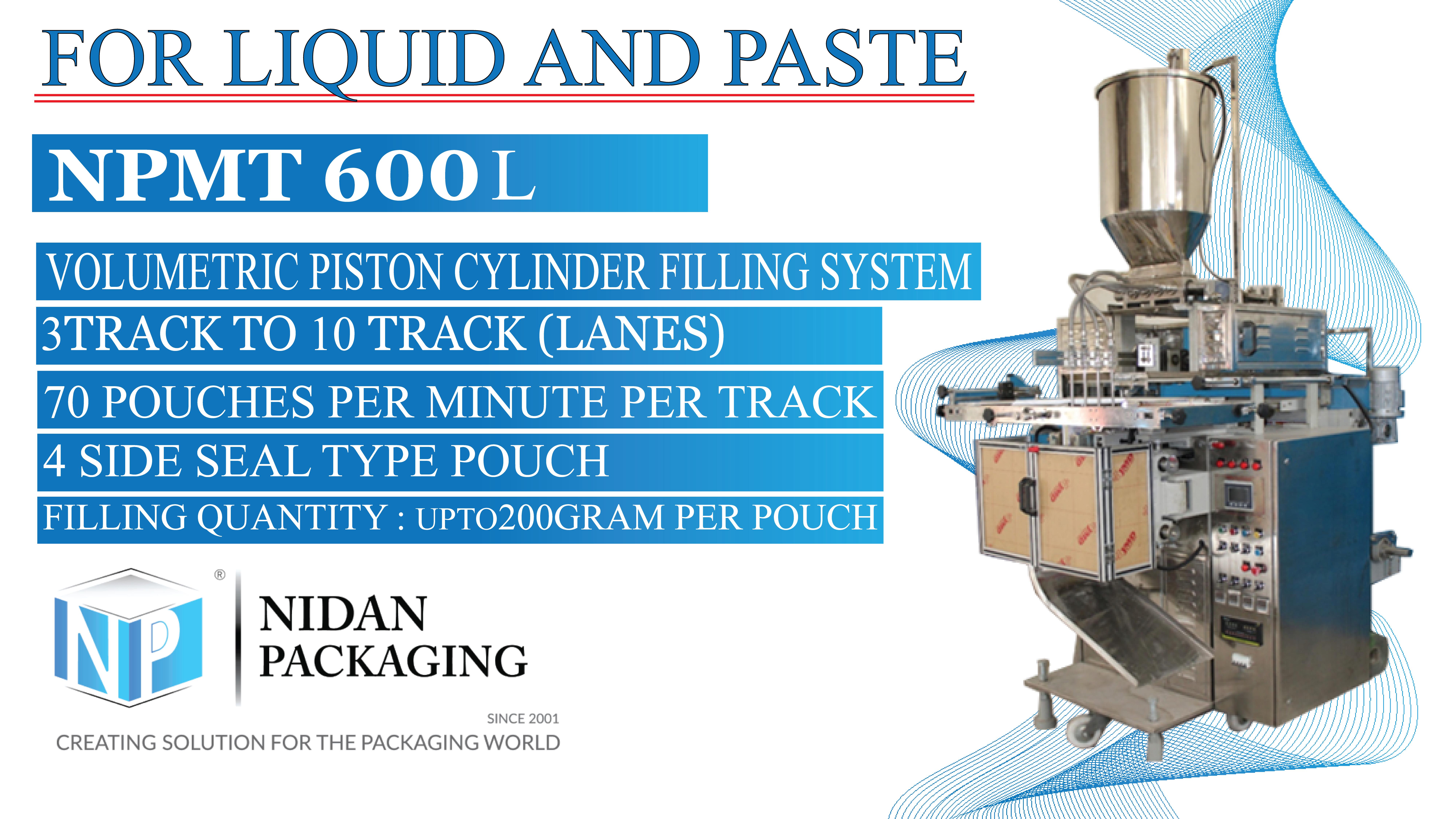 Multi Track Paste Packaging Machine