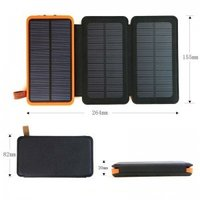 Renewable Design for Best Seller Solar Mobile Power Dual Usb Port Waterproof Power Bank 20000mah
