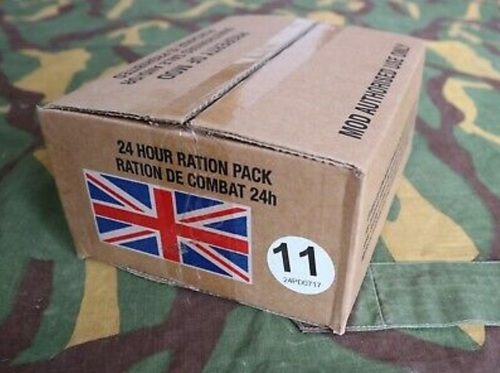British 24 Hour MRE Ration Menu