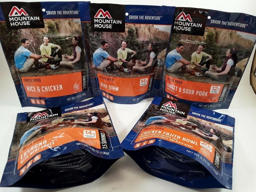 MOUNTAIN HOUSE Freeze Dried Food Emergency Survivor Meals