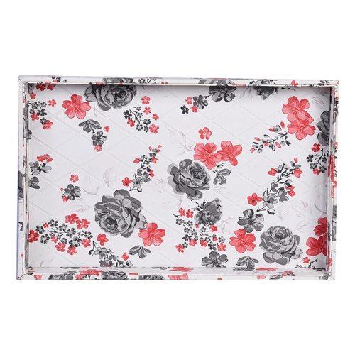 White Flower design Tray
