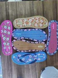 Kids Floral Print Rubber Slipper