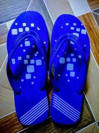 Mens Blue Rubber Slipper