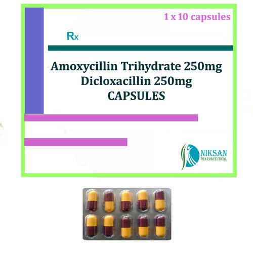 Amoxycillin Trihydrate Dicloxacillin Capsules