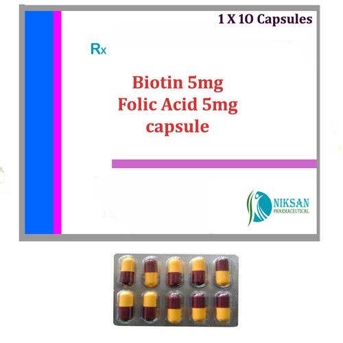 BIOTIN 5MG FOLIC ACID 5MG CAPSULE
