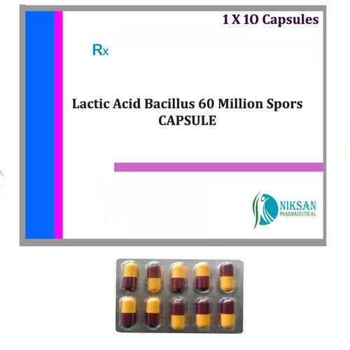 LACTIC ACID BACILLUS 60 MILLION SPORES CAPSULE